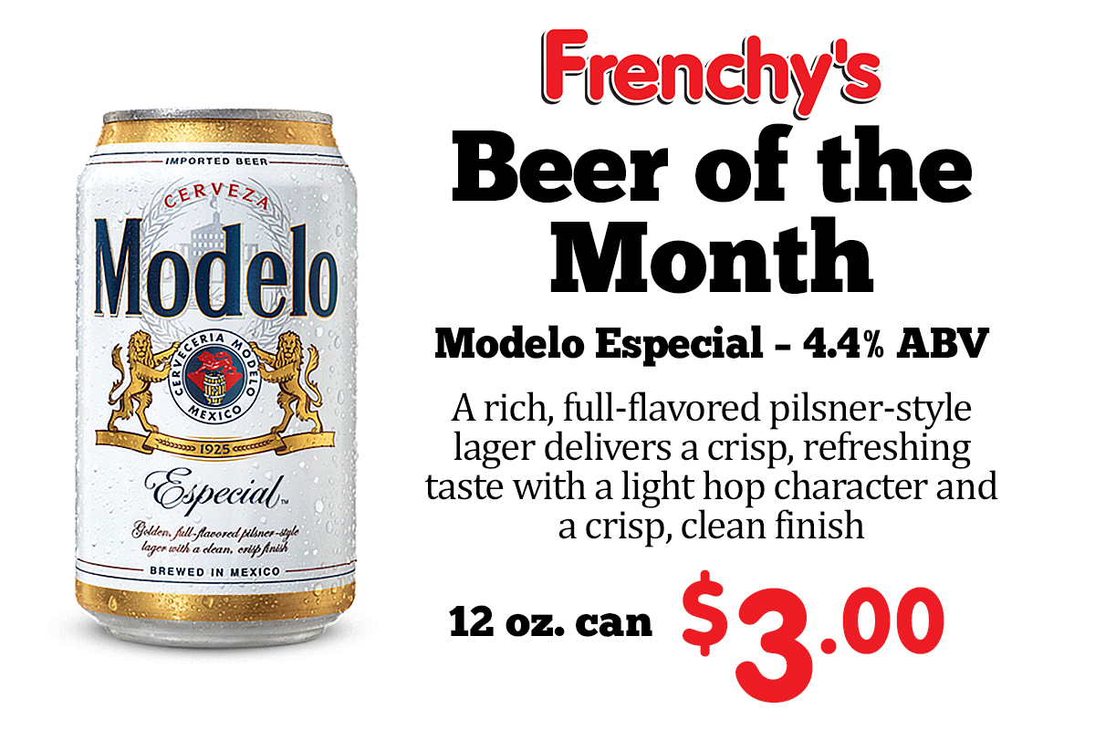Modelo Especial - 4.4% ABV A rich, full-flavored pilsner-style lager delivers a crisp, refreshing taste with a light hop character and a crisp, clean finish