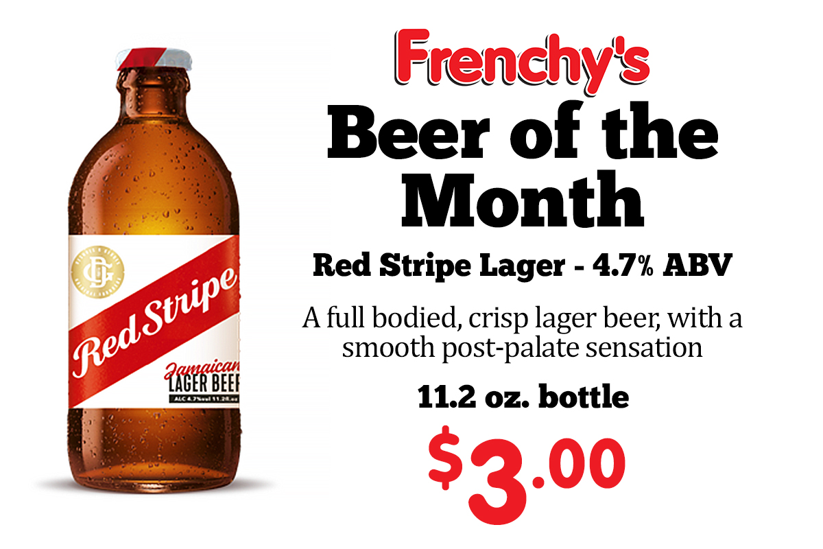 Red Stripe Lager - 4.7% ABV A full bodied, crisp lager beer, with a smooth post-palate sensation 11.2 oz. bottle - 3.00