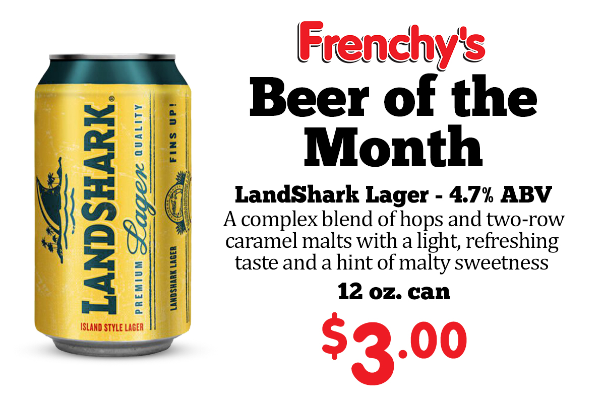 LandShark Lager - 4.7% ABV A complex blend of hops and two-row caramel malts with a light, refreshing taste and a hint of malty sweetness 12 oz. can - 3.00
