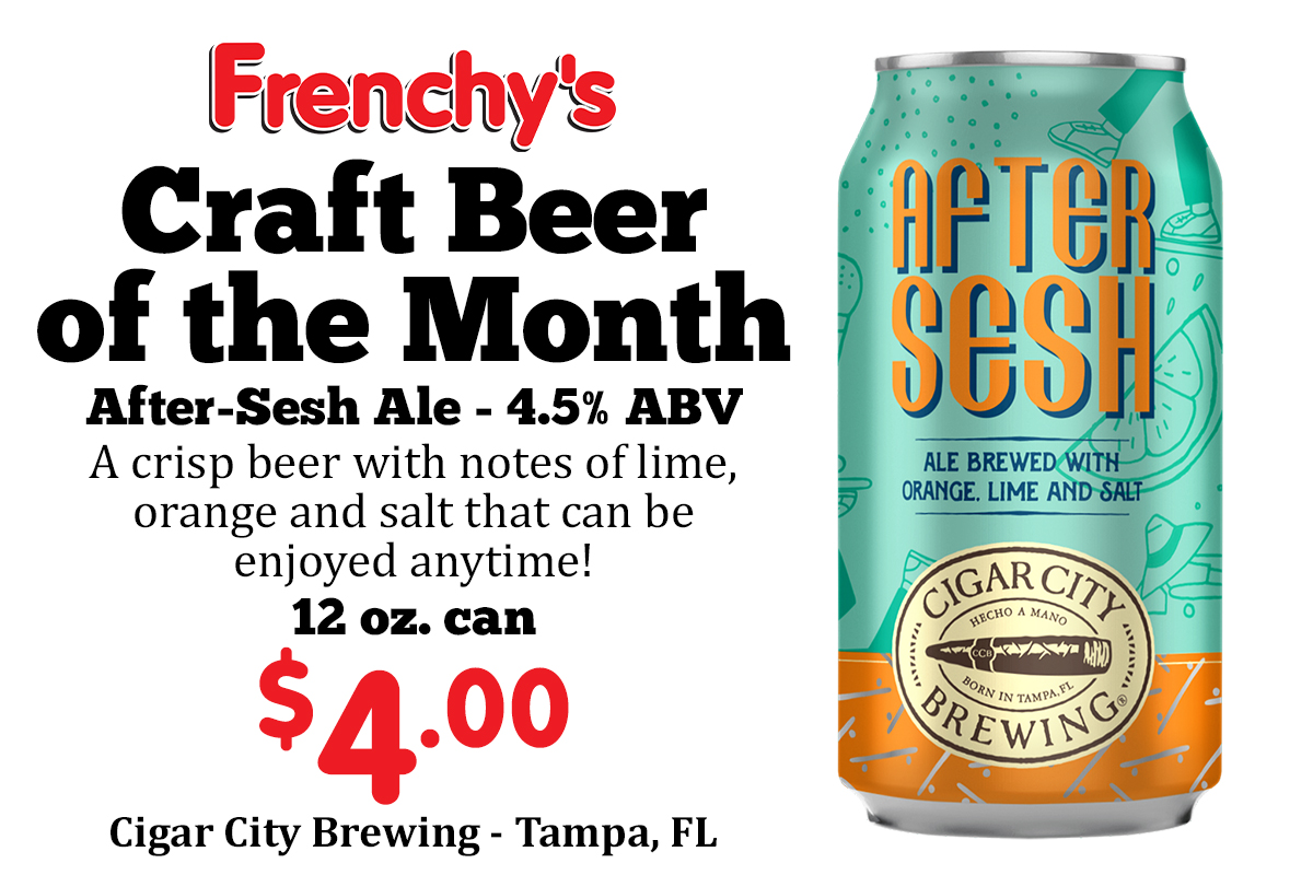 Craft Beer of the Month - After Sesh $4.00