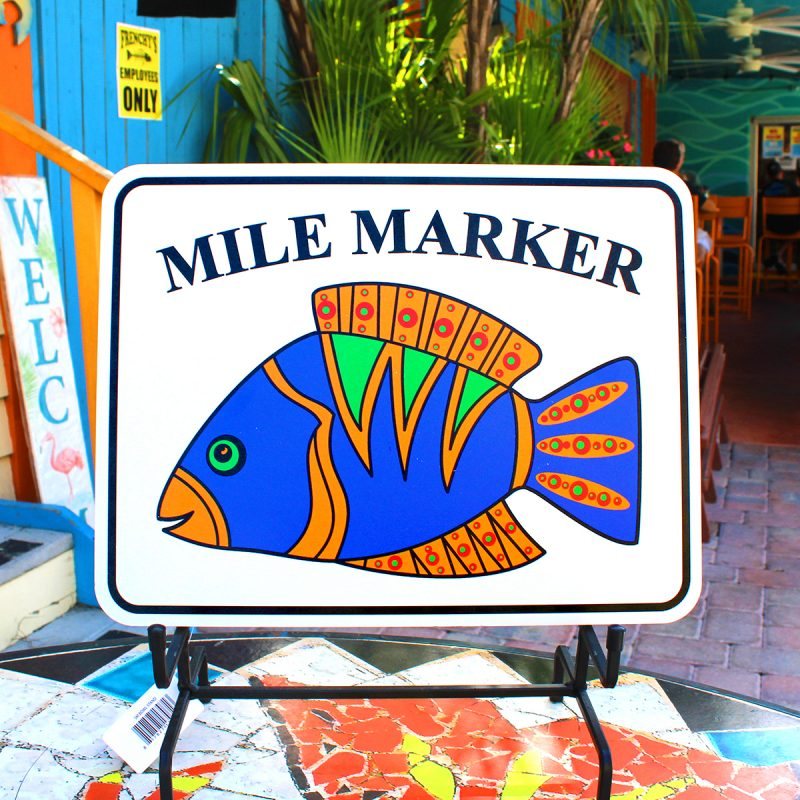 Clearwater Beach Mile Marker Sign - FRONT