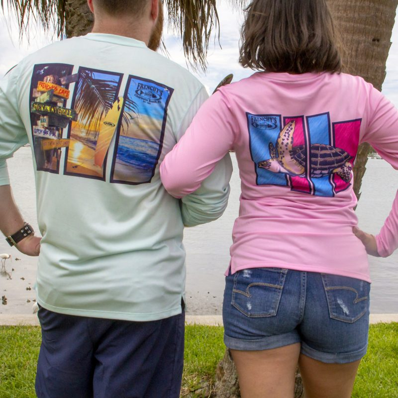 Frenchy's – Extreme UPF 50 plus Sun Shirts BACK HIS and HERS MODEL