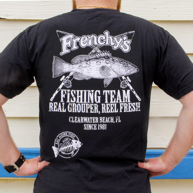 Frenchy's – Fishing Team Tees BACK MODEL