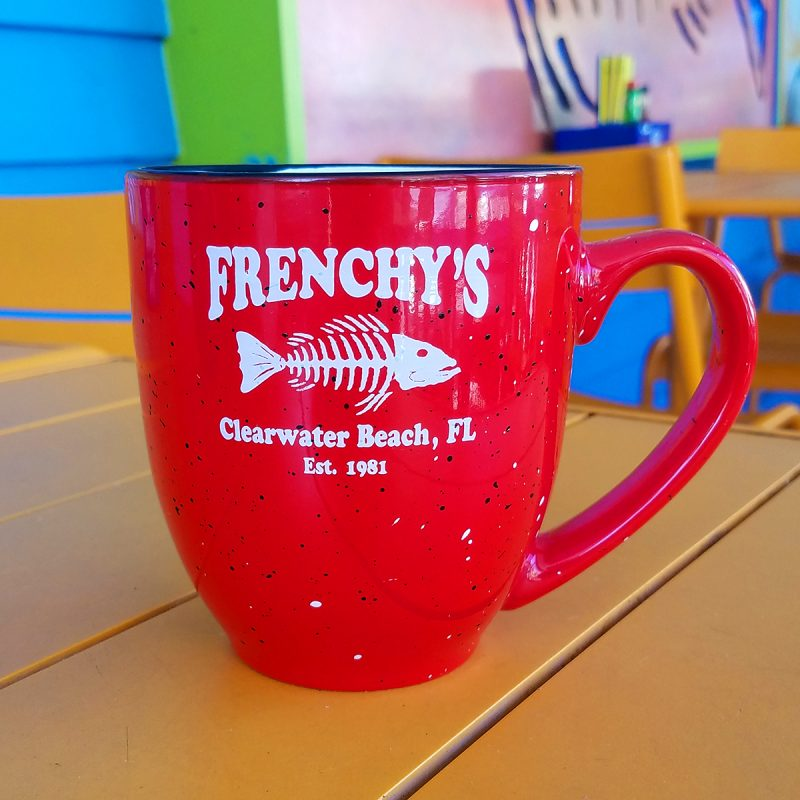 Frenchys – Mug with Flecks in RED