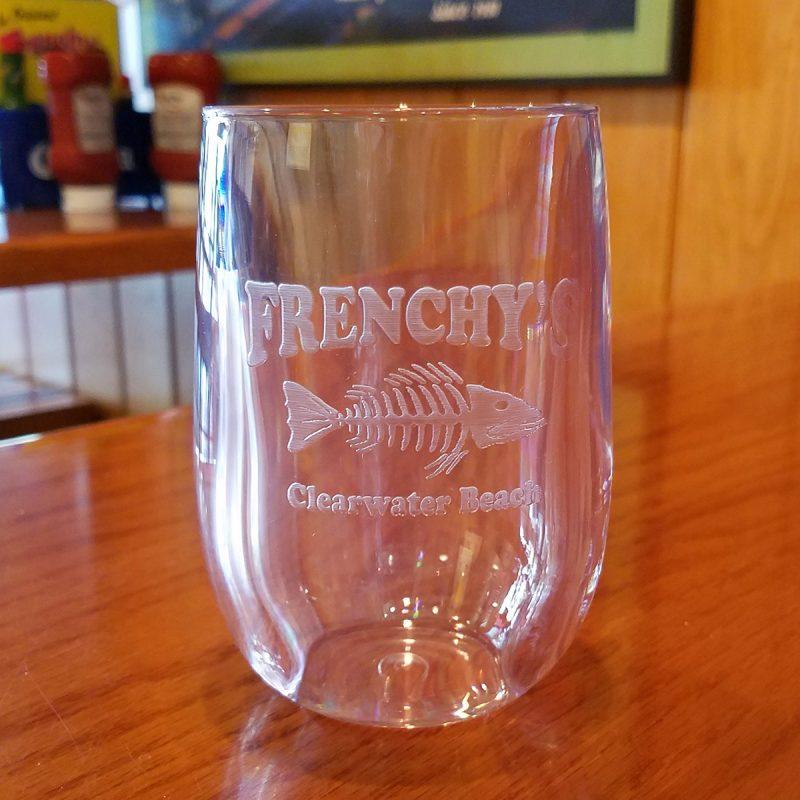 Frenchys Acrylic Stemless Wine Glass [shot inside]