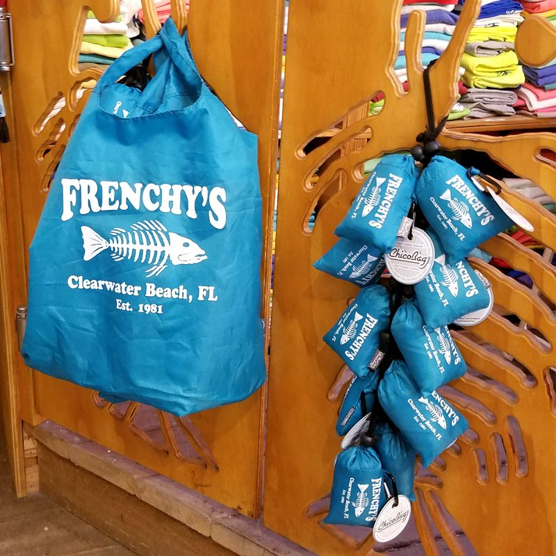 Frenchys Chico-Bag Reusable Tote [open bag and display]