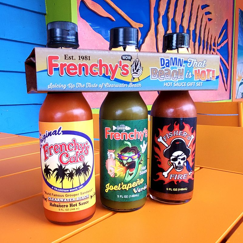 Frenchy's Damn That Beach is Hot - Hot Sauce Gift Pack FRONT