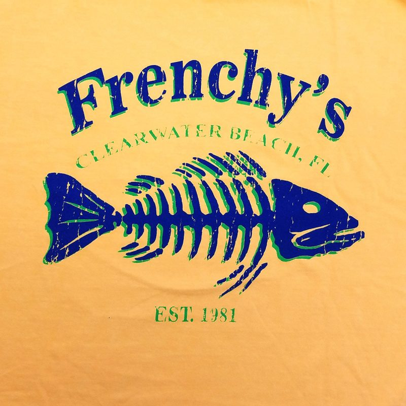 Frenchys Fish Bones Tees - Back