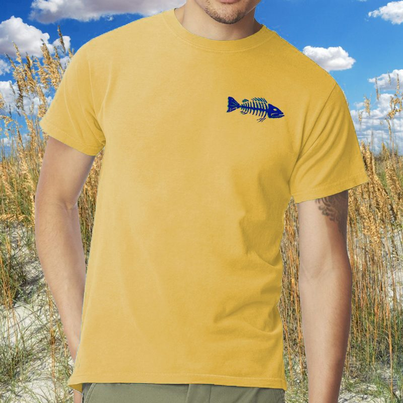Frenchys Fish Bones Tees - Front Chest MODEL