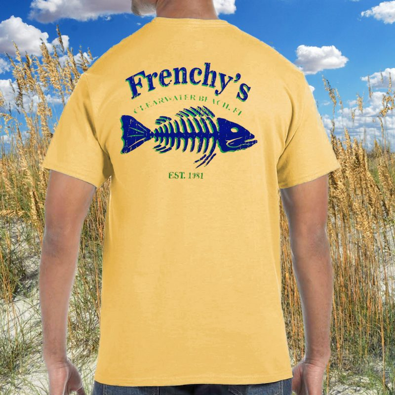Frenchy's Fish Bones Tees - Model BACK