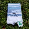 Frenchys Flat Woven Terry Beach Towels with Fringe [blue]