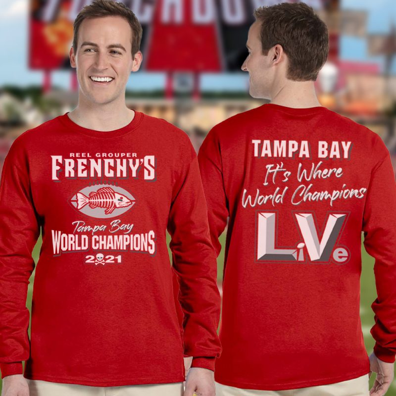 Frenchy's Football CHAMPIONS Long Sleeves - Models FRONT and BACK