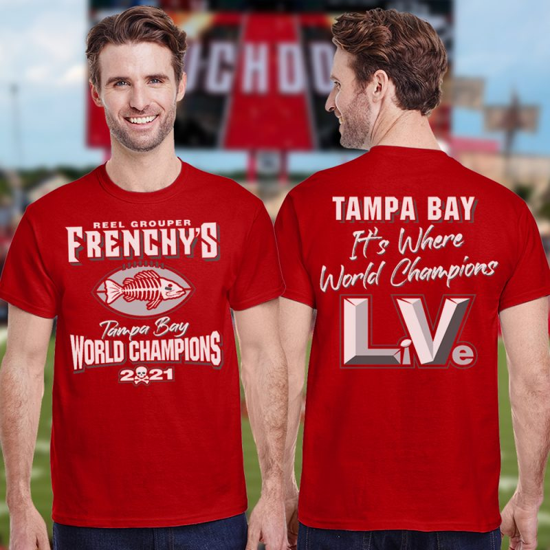 Frenchy's Football CHAMPIONS T-Shirt - Models FRONT and BACK