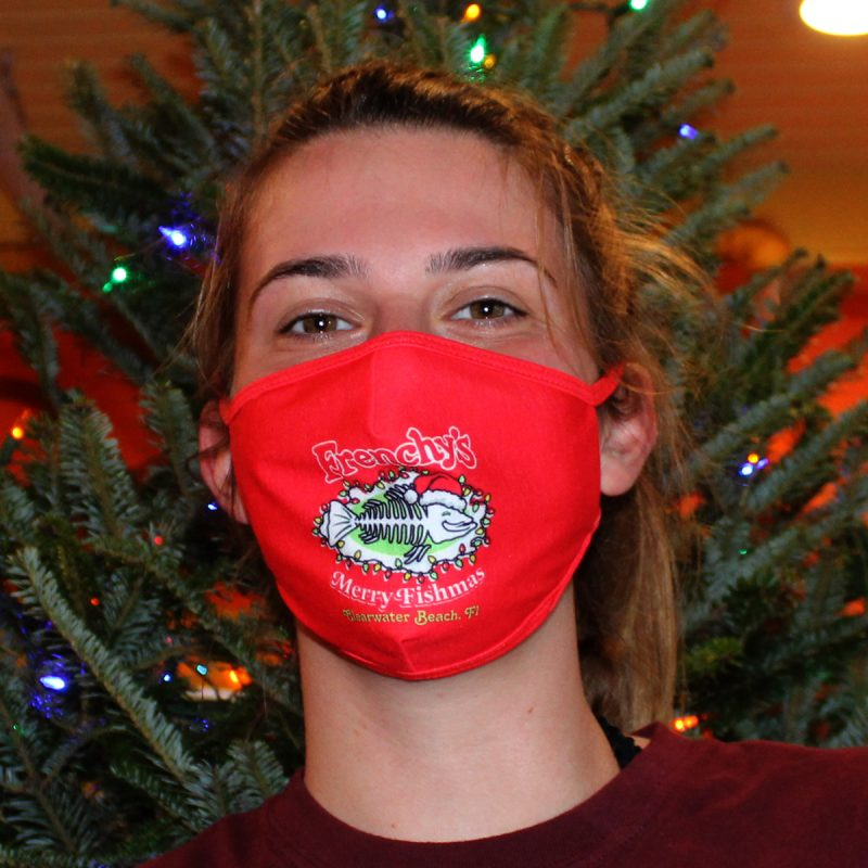 Frenchy's Merry Fishmas Mask - MODEL FRONT