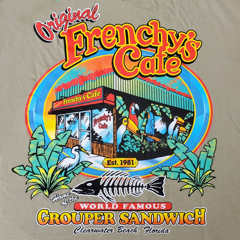 Frenchys Original Cafe Tee - Front Back PRINT
