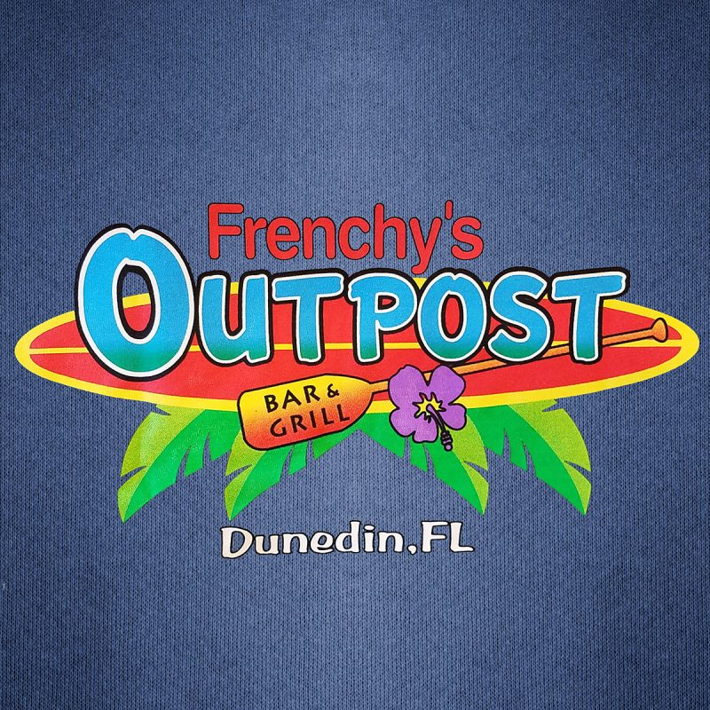 Frenchys Outpost Bar -n- Grill T-shirt [back print detail]