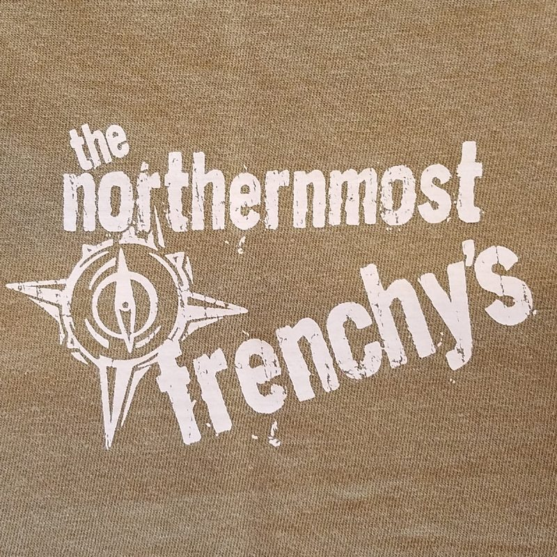 Frenchys Outpost Bar -n- Grill T-shirt [rear hip print]