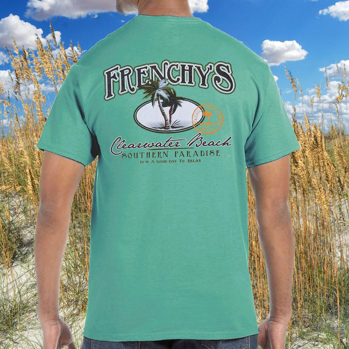 Frenchys Paradise T Shirt Back Print Model