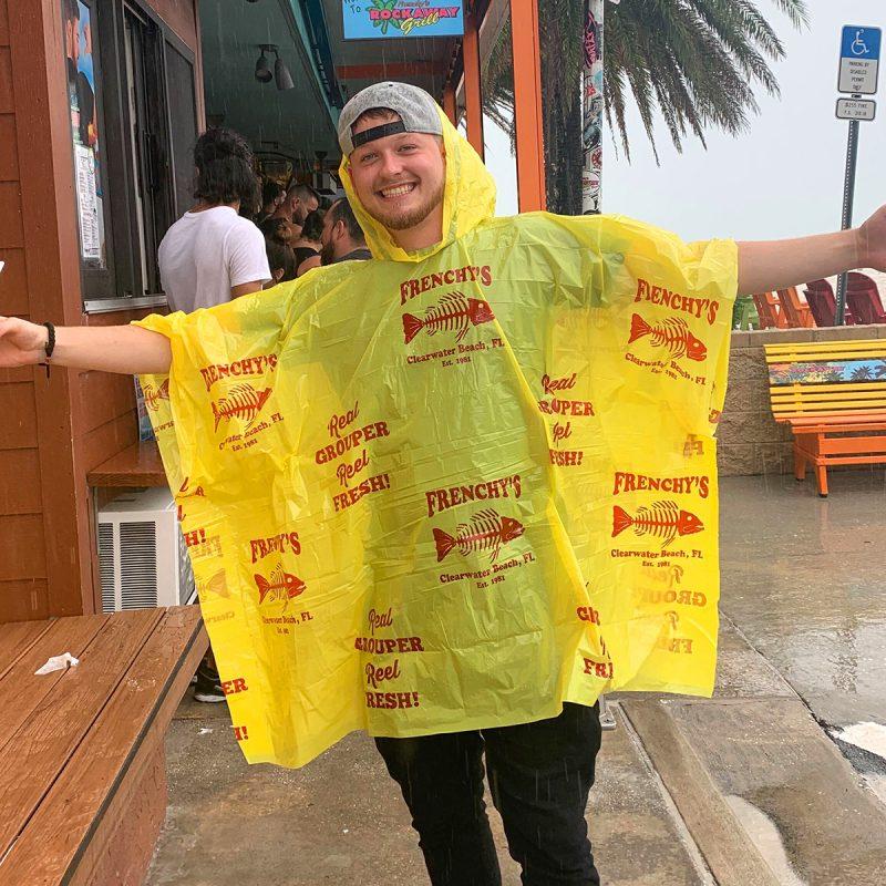 Frenchy's Rain Poncho- Model Testing in the Rain
