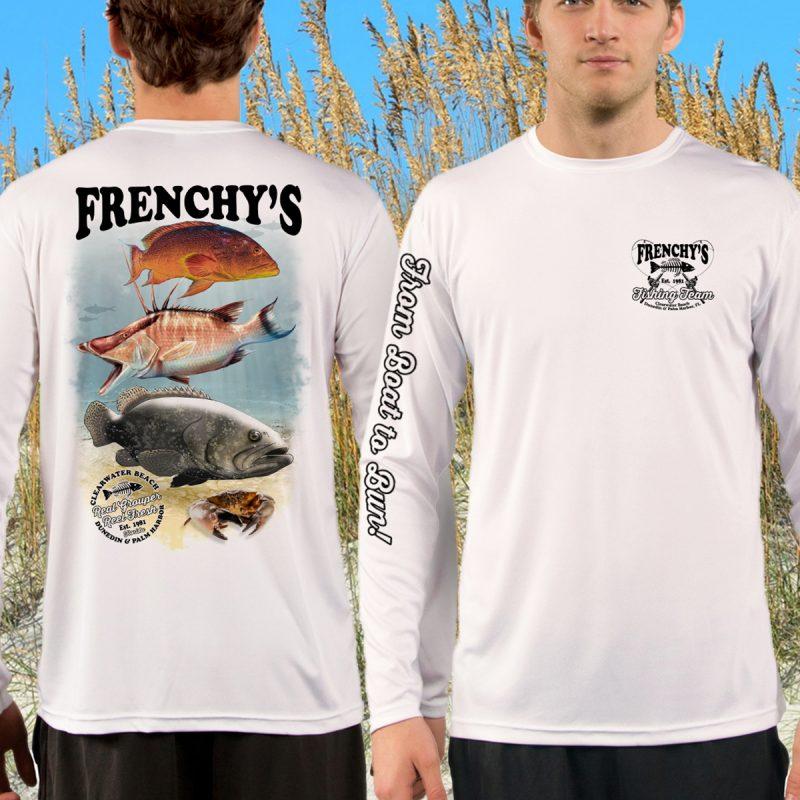 Frenchy's SLAM Performance UPF 40+ Fishing Shirt - FRONT AND BACK