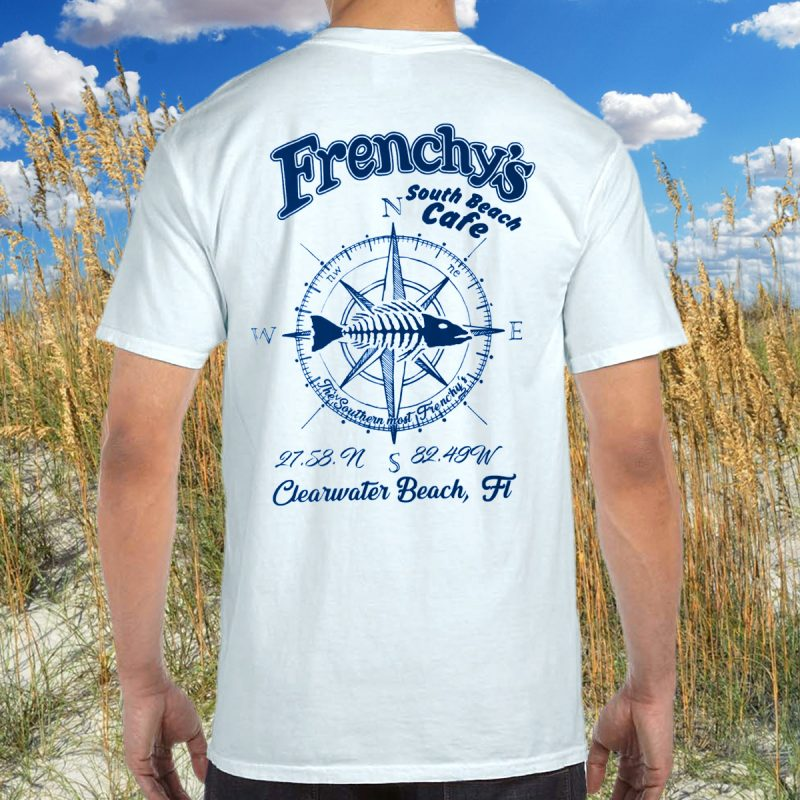 Frenchys South Beach Cafe T-Shirt [model back]