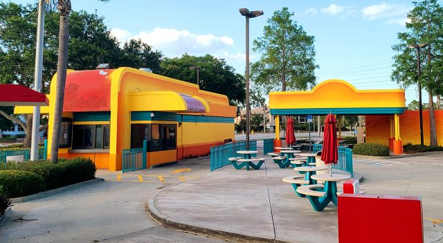 Frenchys To Go Location after initial painting