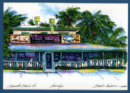 Frenchy's Saltwater Cafe Print