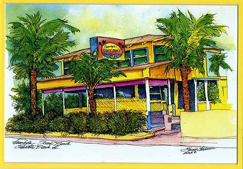 Frenchy's South Beach Cafe Print
