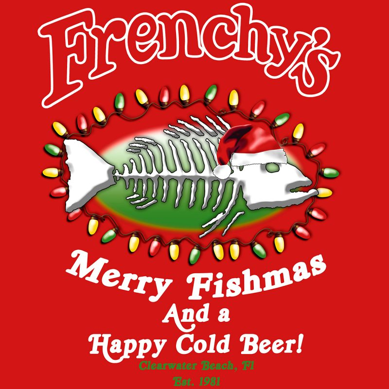 Merry Fishmas 2018 BACK for Red Garments