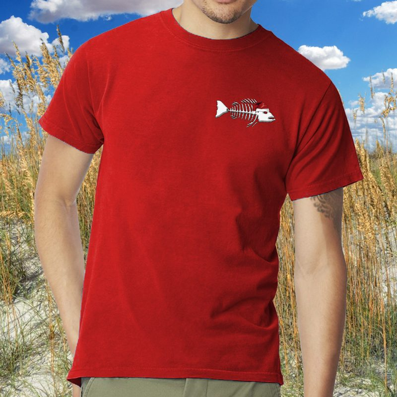 Merry Fishmas 2018 Left Chest for Red Tee MODEL