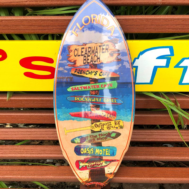 Mini Surfboard III Frenchys Sign Post