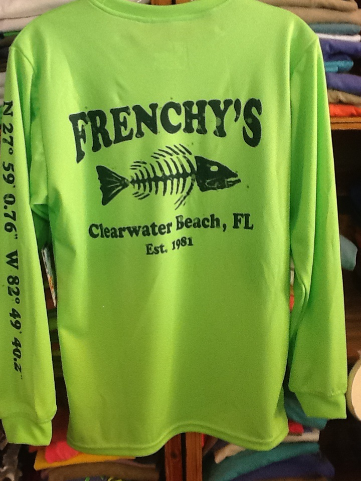 Performance moisture wicking shirt frenchy 39 s restaurants for Moisture wicking fishing shirts