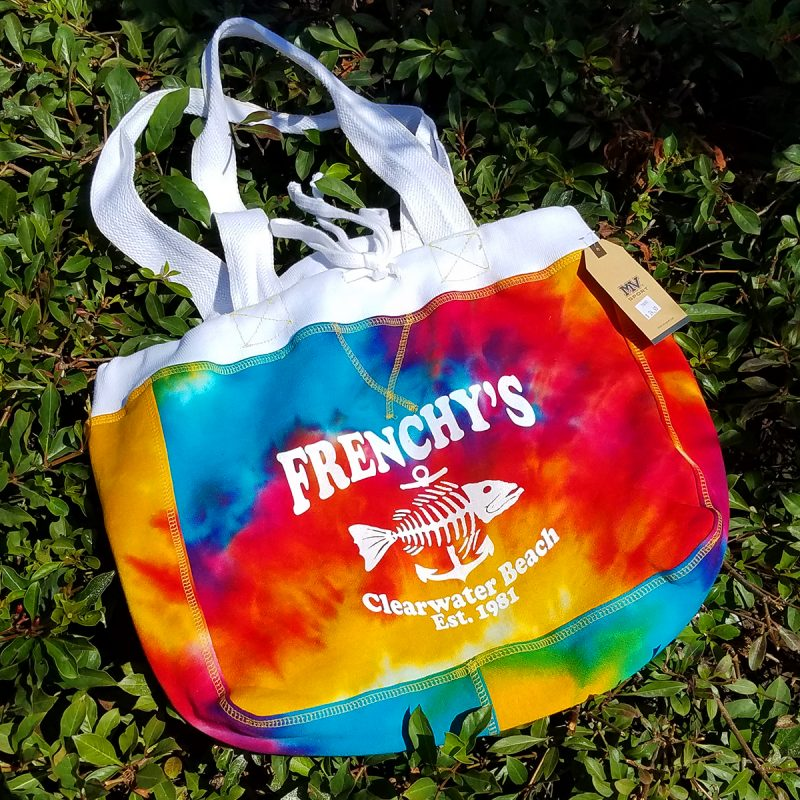 Sweatshirt Fleece Beachcomber Bag - Rainbow Tie Dye