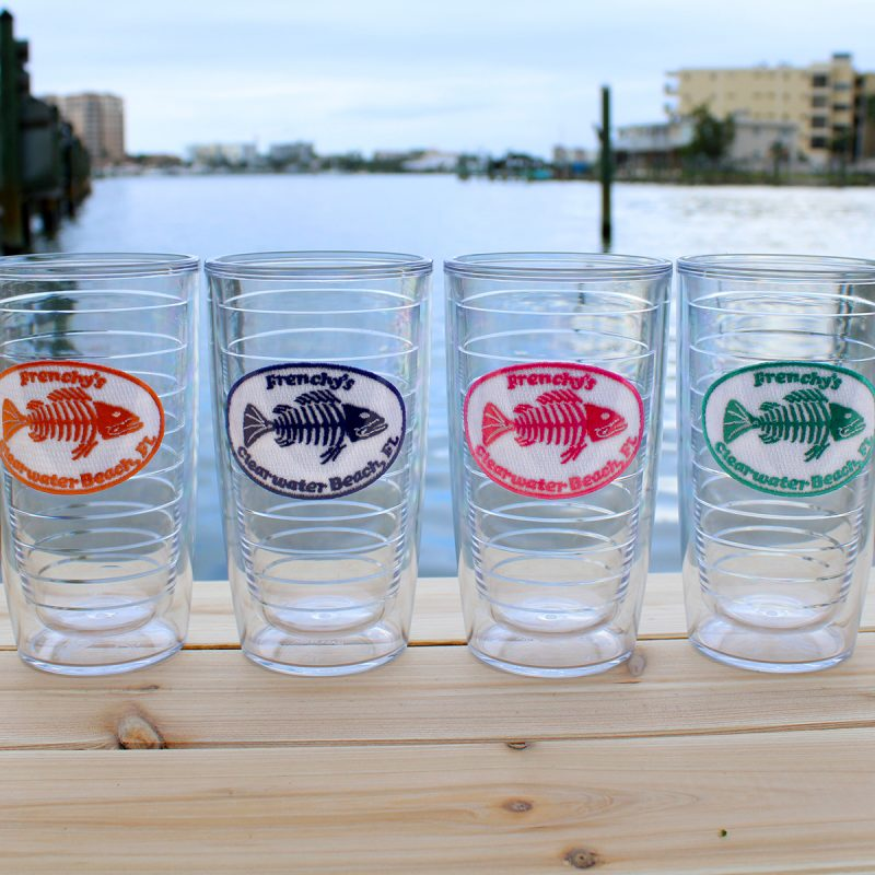 Tervis Tumbler 24oz or 16oz Frenchy's Fishbone Logo ALL COLORS